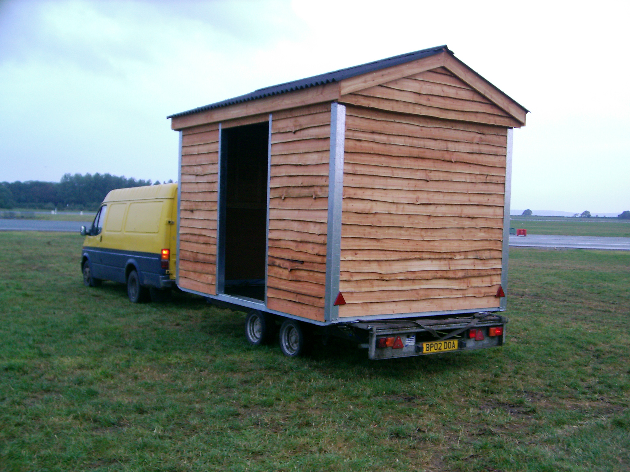 Mobile Homeless Shelters : Mobile field shelters and stables by dovey woodcutters